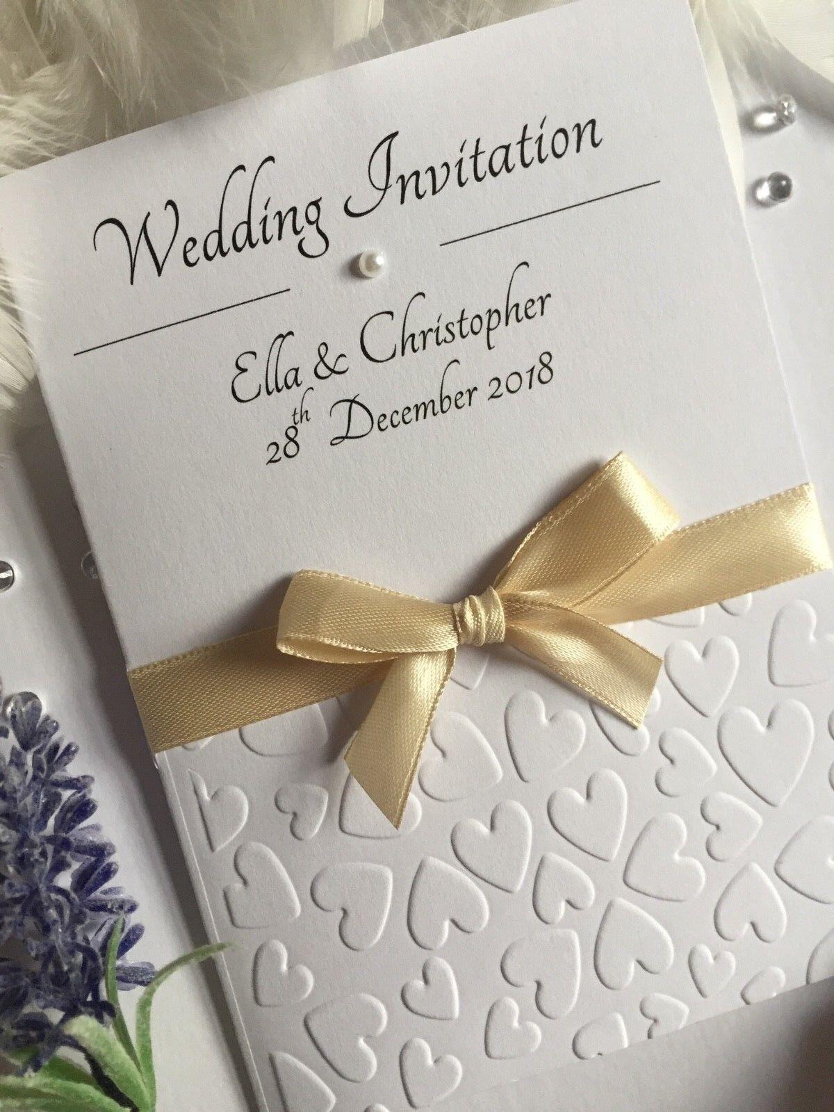 Mariage Soirée Invitations Personnalisé Logo Vertical plissé Bow | Bradées  Bradées  Bradées  14d25f