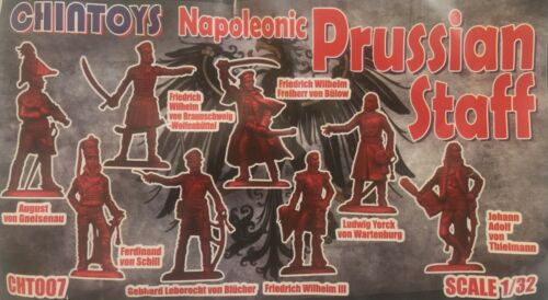 CHT007 Napoleonic Prussian Staff 1//32 Chintoys