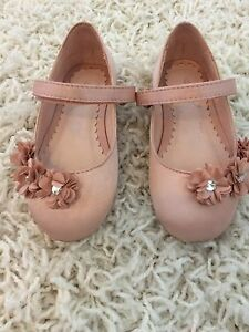 blush dusty pink flower bridesmaid shoes