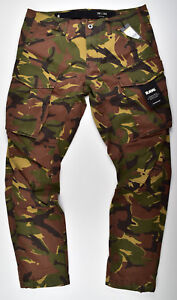 G-STAR-RAW-Rovic-3D-Straight-Tapered-W34-L34-Cargohose-Stretch-Camouflage
