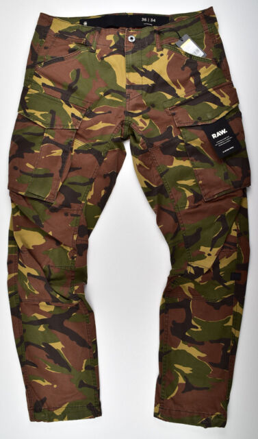 meticulous dyeing processes online sale online G-Star Raw, Rovic 3D Straight Tapered, Cargo Trousers Stretch Camouflage  W34 L36
