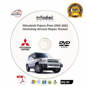 Mitsubishi Shogun Pinin Montero iO Pajero Pinin workshop service repair manual