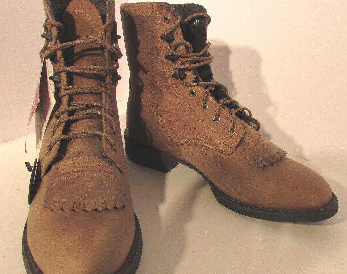 Ariat Heritage Lace Up Lacer botas botas Lacer 5 1 2 M 5.5 Mujeres Marrón angustia aceite occidental 543da0