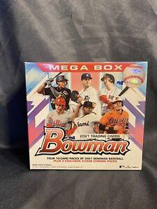 2021 Bowman Mega Box Factory Sealed MLB - 50 card box, includes 2 packs chrome