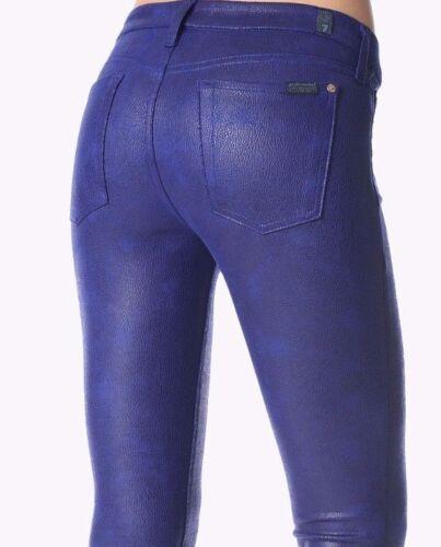 All Nwt simili Bleu For craquelé cousu skinny Le jean Mankind cuir Sz26 7 FRBEqRx1
