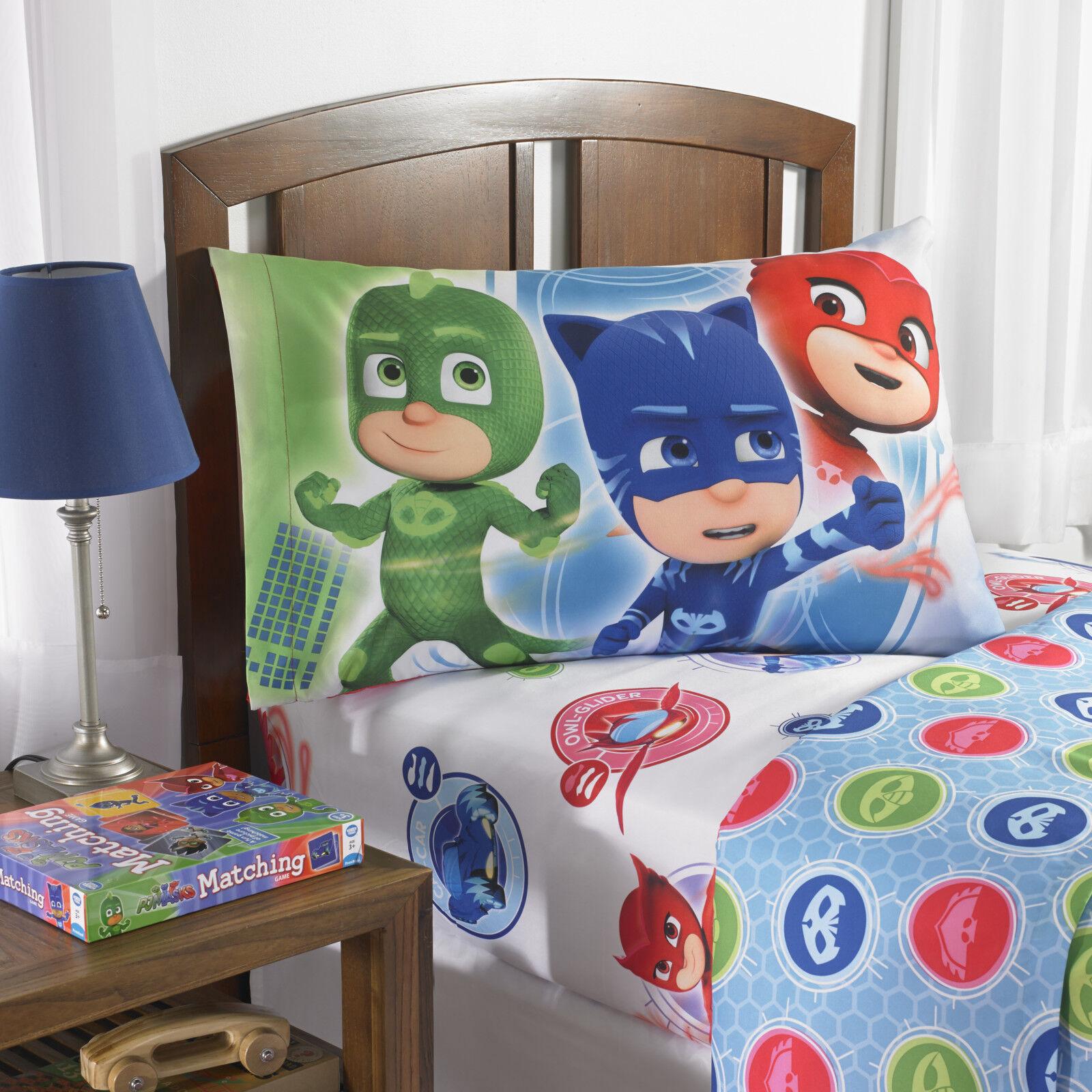 PJ Masks Bed In A Bag TWIN SIZE Bedding Set REVERSIBLE KIDS ROOM SHEET SET