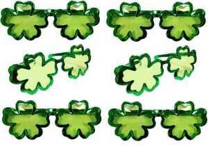 6 Riesig Irisch Irland Kleeblatt Sonnenbrille St Patricks Day Kostüm