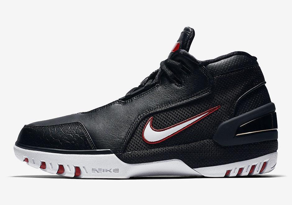 Nike Air Zoom Generation QS Lebron James Black White Red Bred AJ4204-001 Sz 8