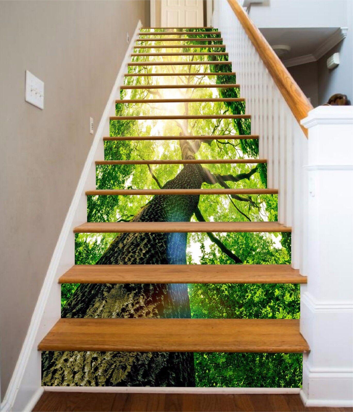 3D Sonne Baum 9677 Stair Risers Dekoration Fototapete Vinyl Aufkleber Tapete DE