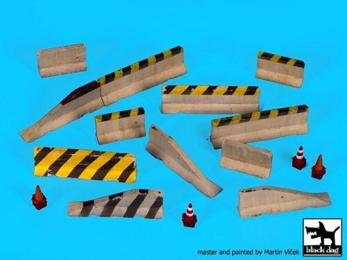 D72026 Concrete Barriers /& Traffic Cones Black Dog 1//72 Assorted Roadblocks