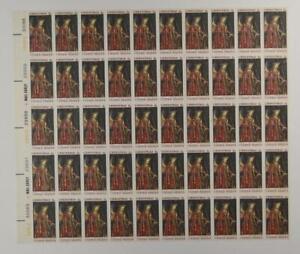 US SCOTT 1363 SHEET OF 50 VAN EYCK CHRISTMAS STAMPS 6 CENT FACE MNH
