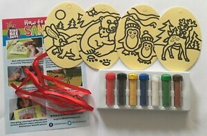 Sand-Art-Picture-Kit-4-winter-Christmas-craft-decorations-reindeer-penguin-bear