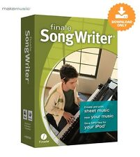 MakeMusic Finale Songwriter Notation SOFTWARE - DIGITAL DOWNLOAD - Alfred Music