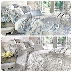 Dreams-amp-Drapes-MALTON-Vintage-Floral-Pencil-Pleat-Curtains-Duvet-Cover-Bedding
