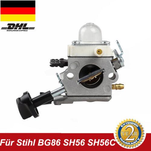 Vergaser Passt Für STIHL BG86 BG86C SH56  SH56C SH86 Kettensäge DHL