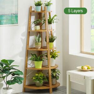 3-5-Tiers-Flower-Pot-Stand-Indoor-Plant-Display-Planter-Wooden-Shelf-Rack-Garden