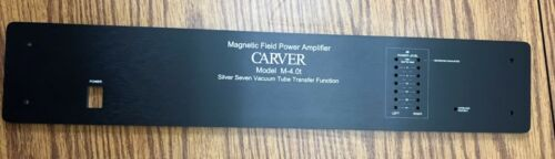 Carver M-4.0t Faceplate BLACK with Handles Spacers /& Hardware!