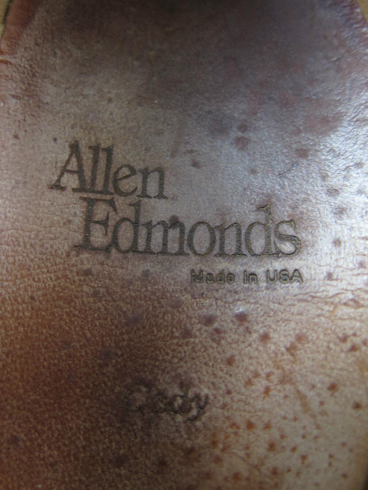 Allen Edmonds Cody Marrón Leather Weave Tassels Loafers Dress Zapatos 1/2 9 1/2 Zapatos D USA d34b1d