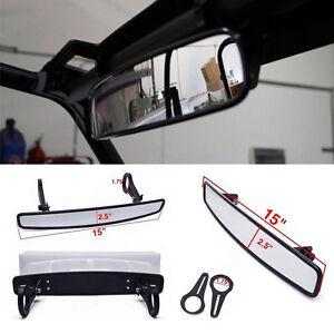 "15/""x2.6/"" Rear View Mirror with 1.75/"" Clamp For Polaris RZR800 XP900 XP1000 UTV"