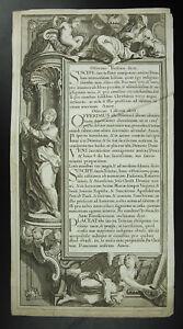 Antique Print Biblia Sancta Gravure Religieuse La Bible Offerens Hoftiam C1750