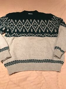 Men-s-M-Size-48-Benetton-Ski-Crew-Sweater-Was-175-Made-In-Italy-Shetland-Wool