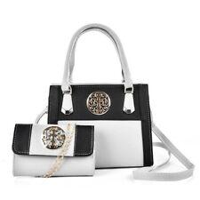 4d38efcca0 2pcs set Women Ladies PU Leather Handbag Shoulder Tote Purse Wallet Clutch  Bag