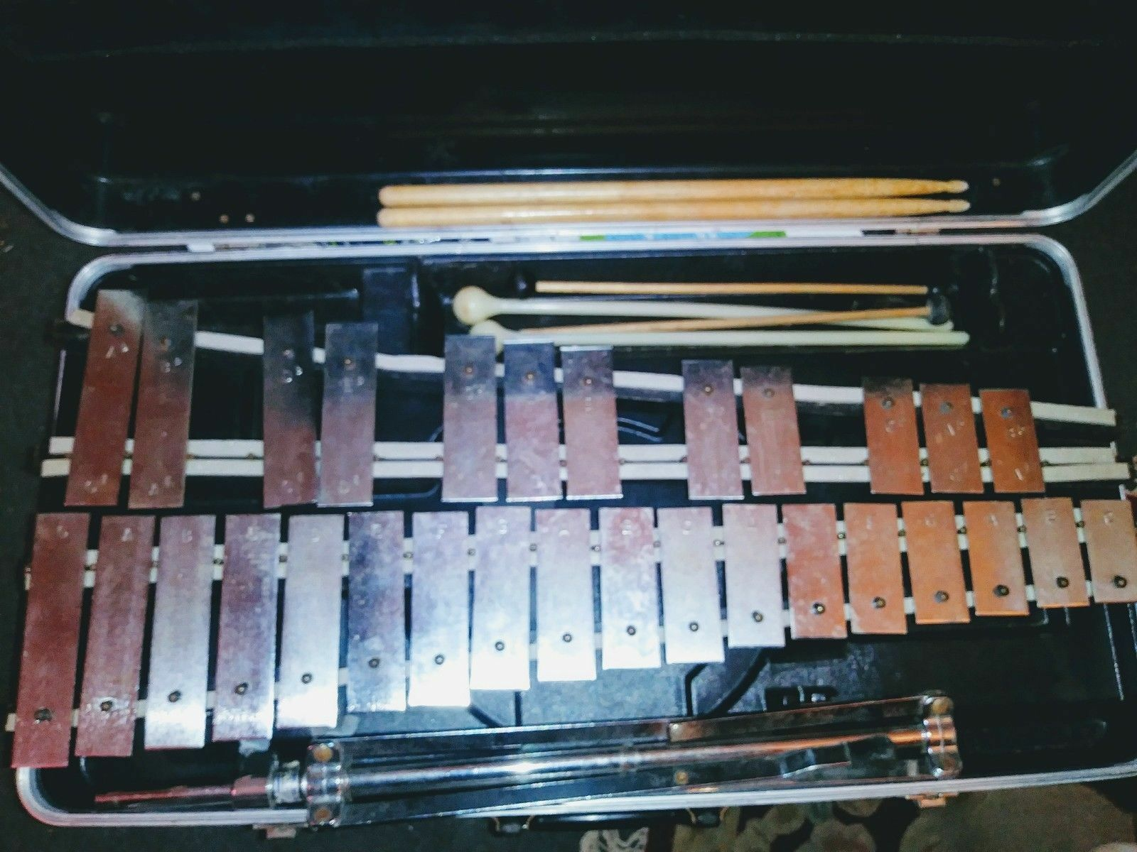Musser Xylophone Musical Equipment w Stand Accessories(Please Read Description)