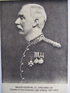 MILITARY-CARD-MAJOR-GENERAL-E-L-ENGLAND-COL-OF-SOMERSET-LIGHT-INFANTRY