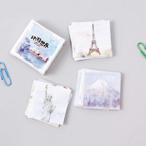 45pcs-box-travel-around-the-world-kawaii-scrapbooking-vintage-paper-stickers