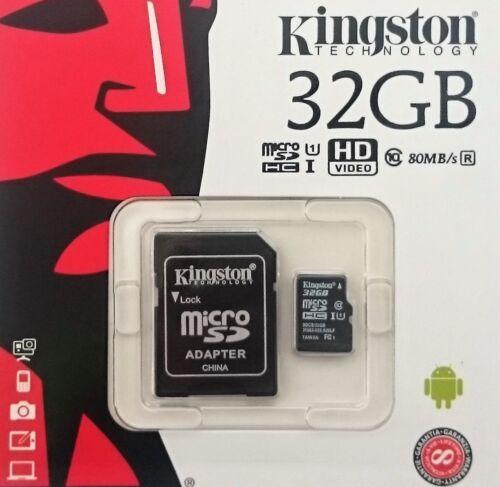 Kingston 16GB 32GB 64GB 128GB microSD SDHC SDXC UHS-1 class10 microSD+SD Adapter