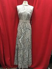 ADRIANNA PAPELL DRESS /NEW WITH TAG/SIZE 8/RETAIL$339/NORDSTORM DRESS/PLATINUM