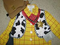 Disney Store Woody Costume Toy Story Sz 7/8 Cowboy Halloween Dress Up