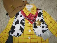 Disney Store Woody Costume Toy Story Sz 10 Cowboy Halloween Dress Up