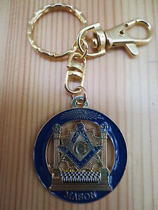 Image is loading Masonic-Key-Chain-K02-Mason-Freemason 3407ce406
