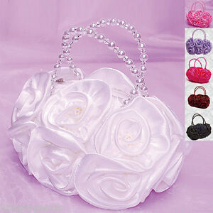 Girl-Bag-Satin-Evening-Wedding-Flower-girl-Bridesmaid-Party-Occasion-Handbag-001