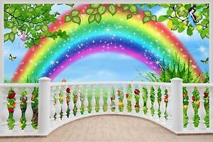 Huge-3D-Balcony-Childrens-Fairytale-Rainbow-Wall-Stickers-Wallpaper-181