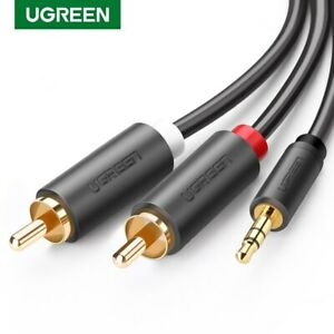 Ugreen-3-5-mm-male-a-2RCA-Male-AUX-Cable-Plaque-or-L-R-Plug-Cable-Audio-Cordon