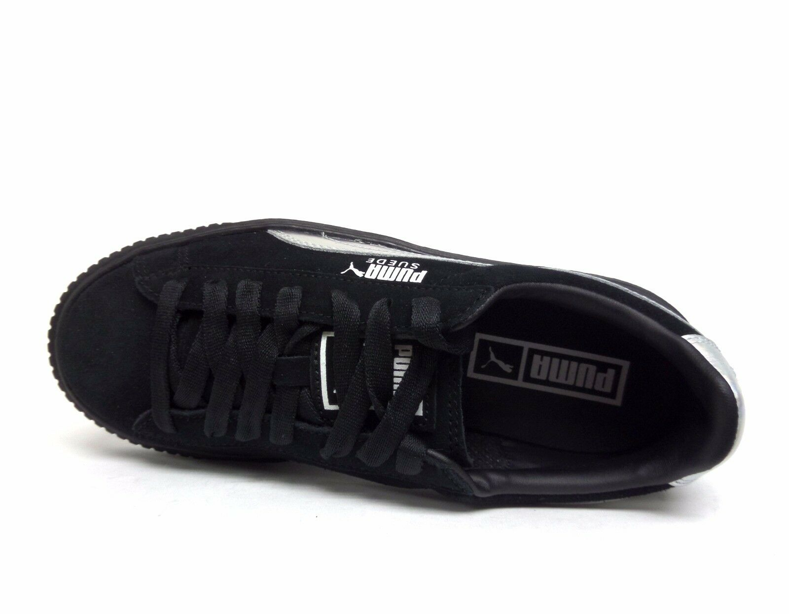 brand new 90bb5 fc502 ... PUMA Women s SUEDE SUEDE SUEDE PLATFORM EXPLOSIVE Shoes Puma  Black Black 363649-01 b ...