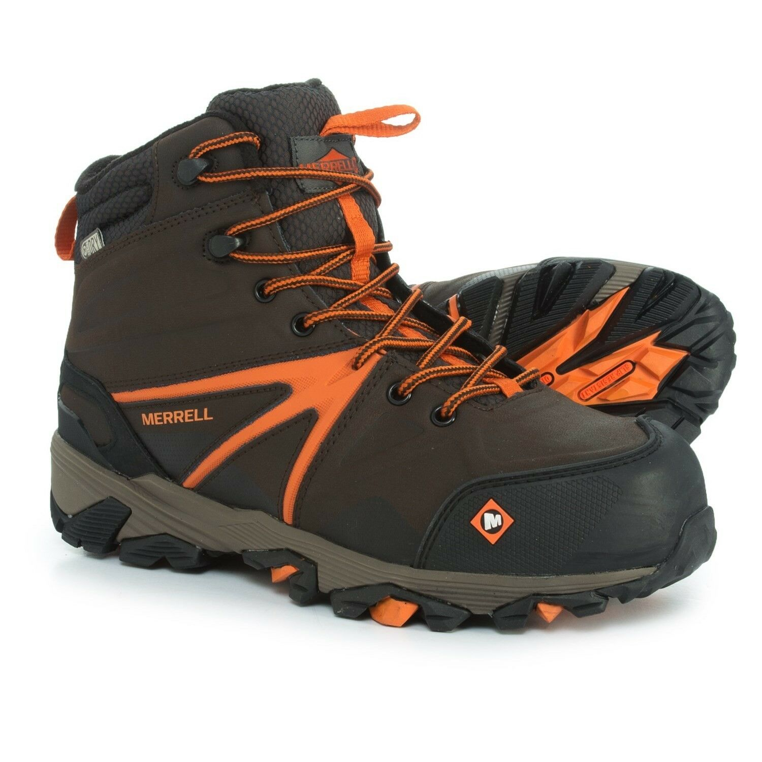 Merrell Trailwork Mid Work Stiefel-Waterproof,Composite Safety Toe (Men) Größe 14