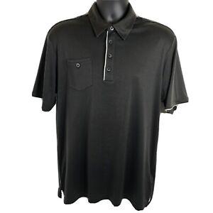 Adidas Golf Polo Men's Medium Clima Cool Shirt Polyester Dark Gray White W47274