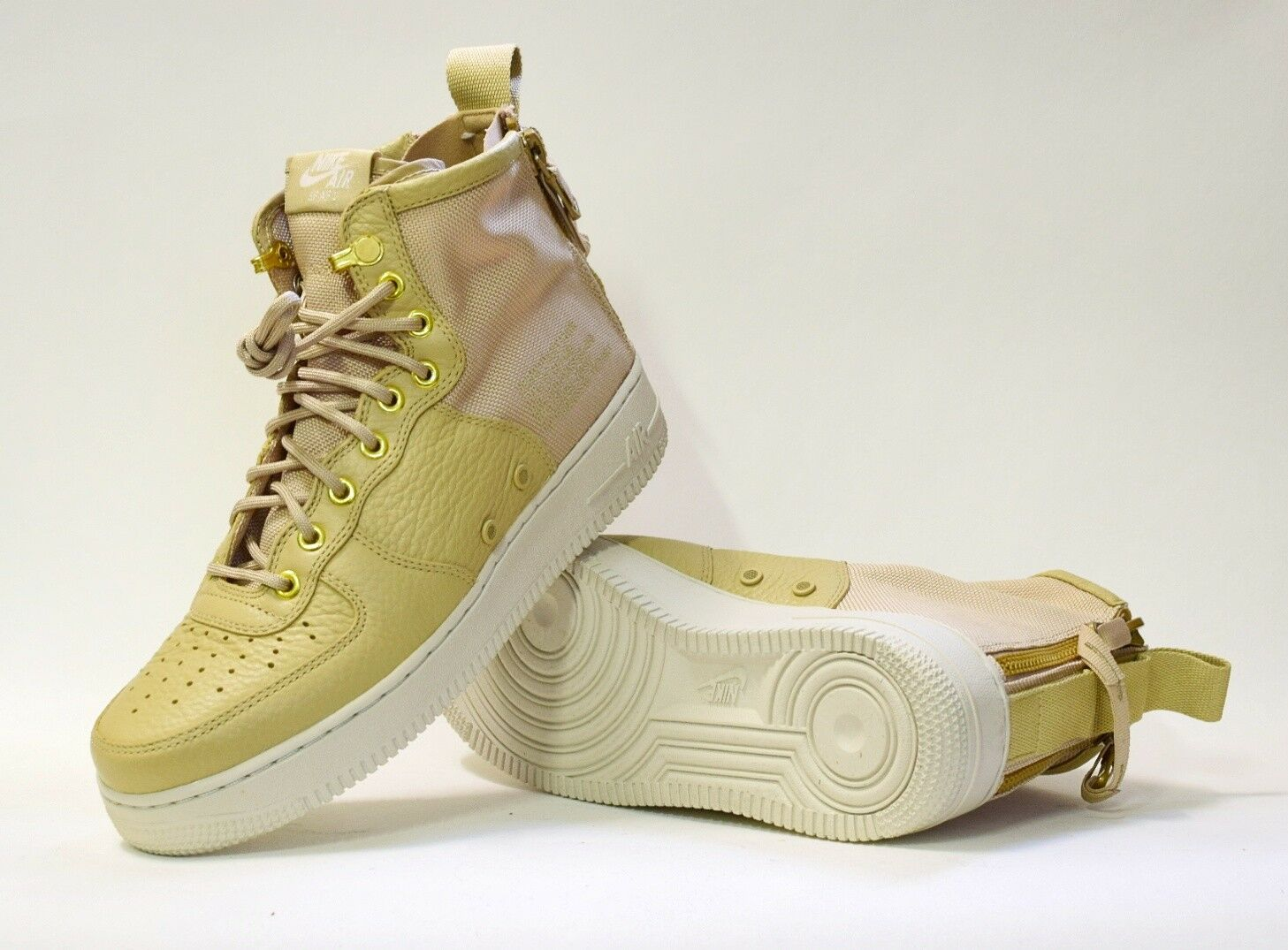 Authentic Nike Air Force 1 SF MID AF1 Tan Light Bone SZ US 8 Brand New Cheap
