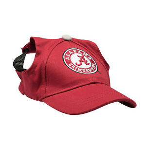 Alabama-Crimson-Tide-NCAA-Licensed-LEP-Dog-Pet-Baseball-Cap-Hat-Sizes-XS-XL