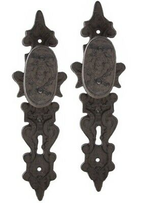 Vintage Brass Lever Door Handles Knobs Antique Old Plates