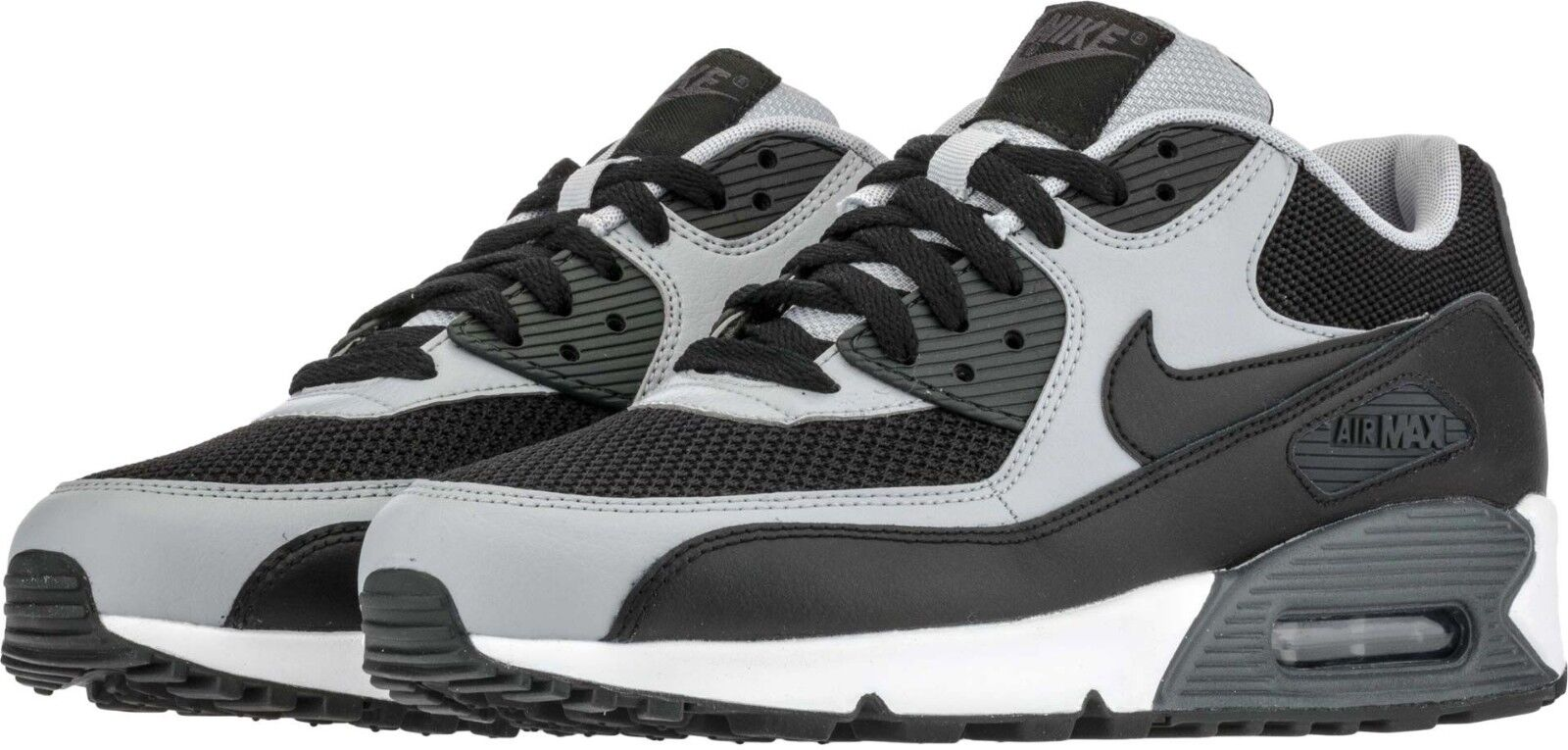 Air Max '90 Essential Men's Running shoes Black Grey Sizes 8-13 NIB 537384-053