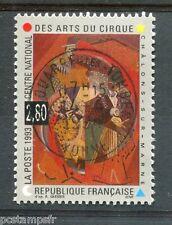 FRANCE - 1993, timbre 2833, CIRQUE, CLOWNS, TABLEAU GLEIZES, oblitéré