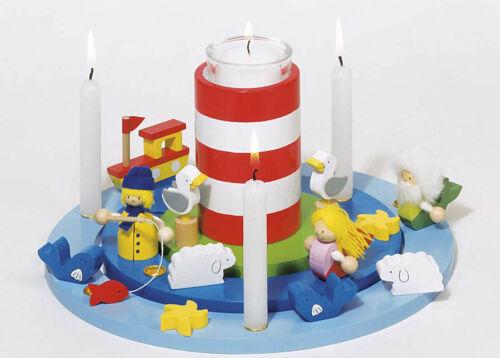 GEBURTSTAGSKRANZ Maritim mit Leuchtturm Geburtstagszug Kerzenkranz Geburtstag