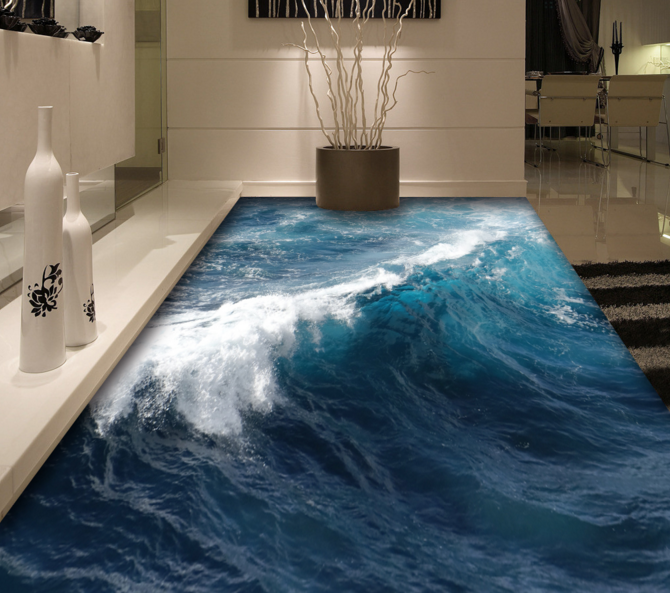 3D Turbulent Ocean 64 Floor WallPaper Murals Wall Print Print Print 5D AJ WALLPAPER UK Lemon a97ffe