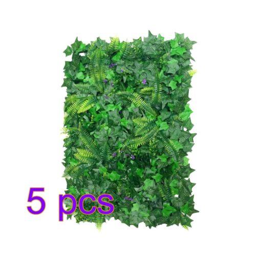 40*60cm Fake Artificial Green Wall Vertical Screen Plants Hedge Boston Ivy Mat