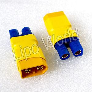 XT60-Stecker-auf-EC3-Buchse-Hochvoltstecker-Adapter-Lade-Kabel-LiPo-Akku