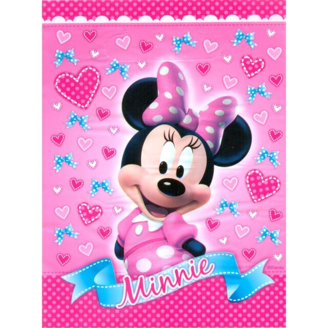 MINNIE MOUSE LOOT LOLLY TREAT BAGS PACK OF 8 BIRTHDAY PARTY SUPPLIES